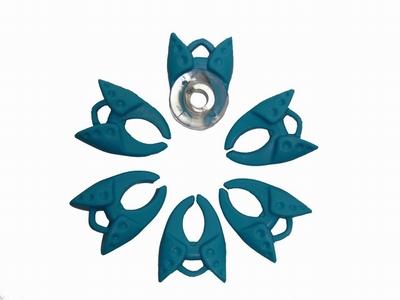 Spoelklem blauw  6 stuks