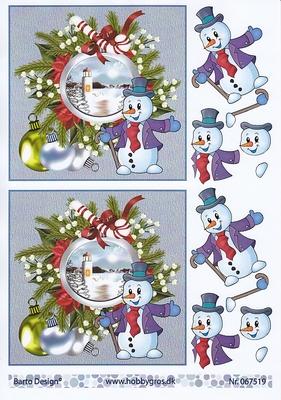 Sneeuwman kerst  A4