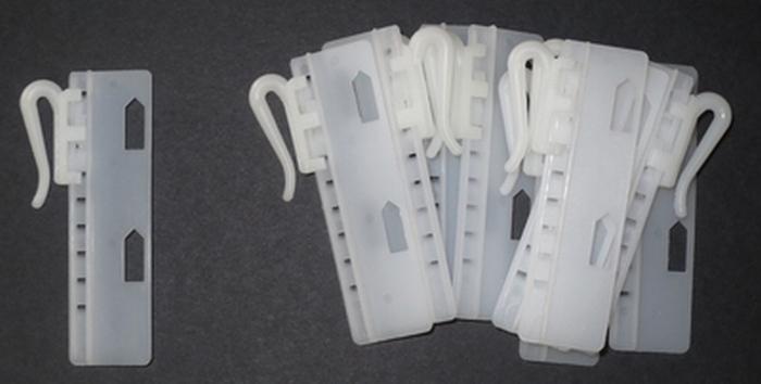 Plastic Gordijn Haakjes : Gordijnhaak verstelbaar 55 mm 10 stuks